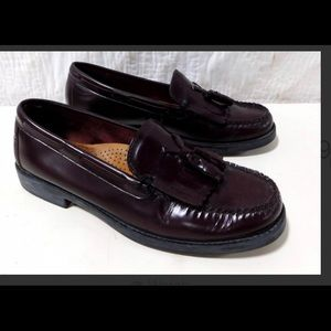 Bass Mahogany Color Leather 9M Loafers $89